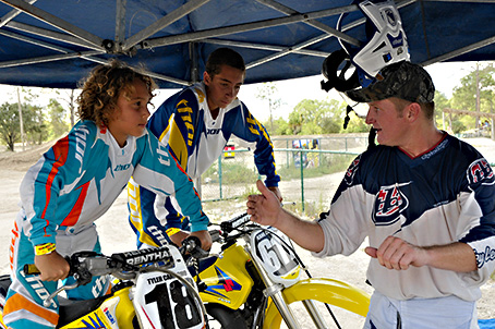 Seth giving some riding tips!